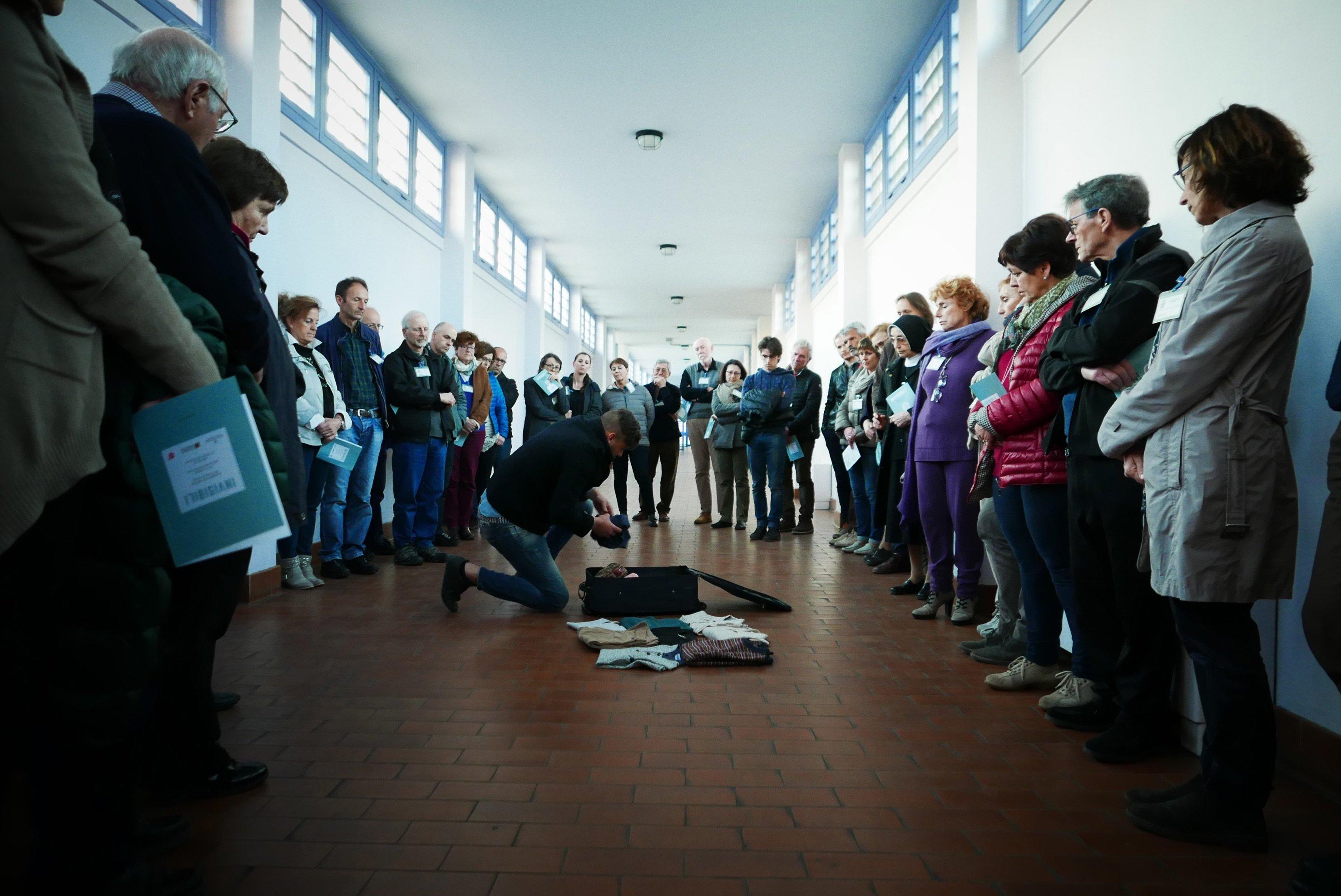 Spettacolo itinerante al carcere di Montorio