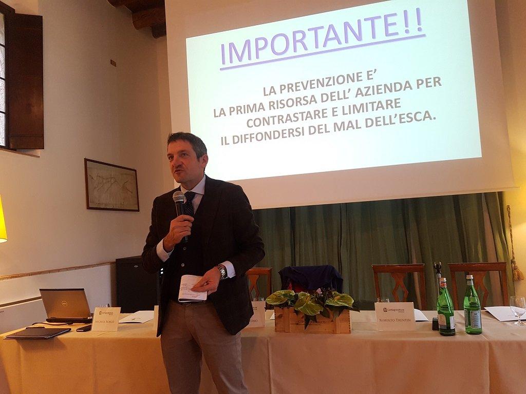 Christian Marchesini al convegno sul mal dell'esca