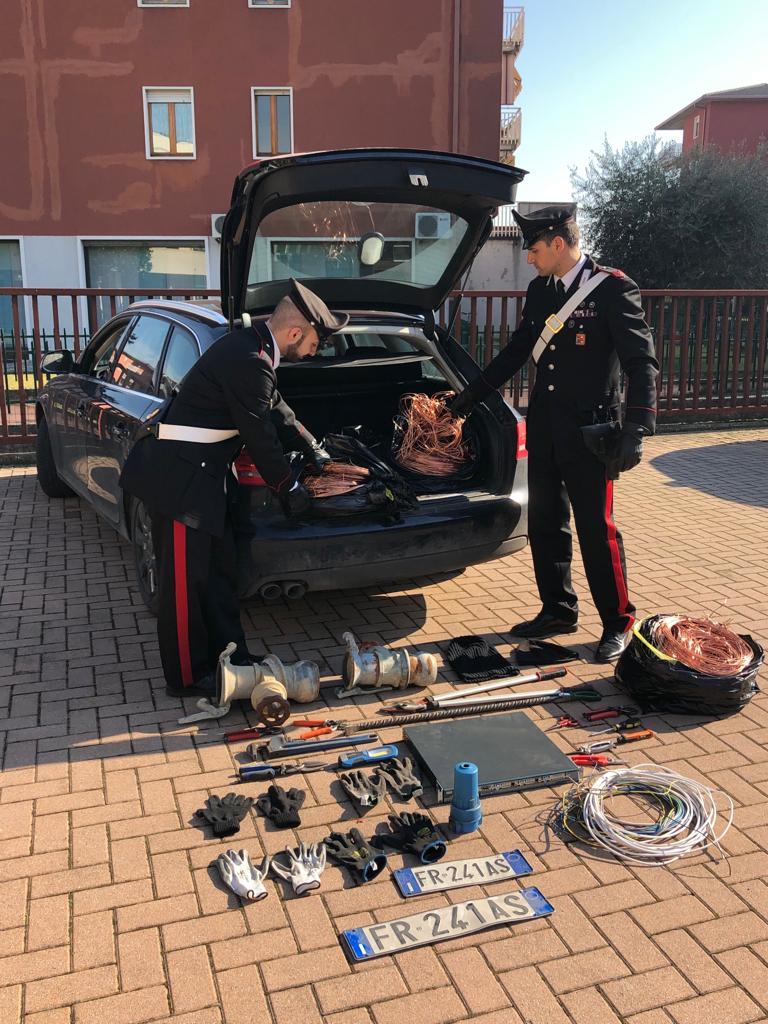 rame e auto rubati carabinieri
