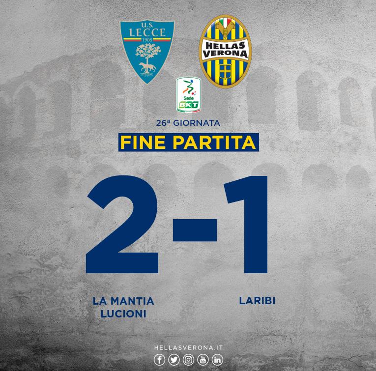 Lecce-Hellas risultato