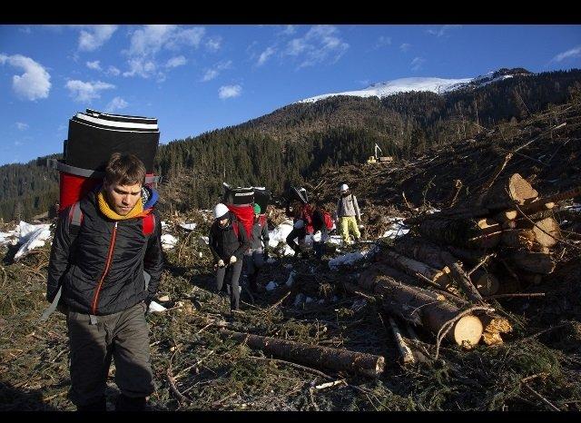Clima blitz Greenpeace in Val Visdende