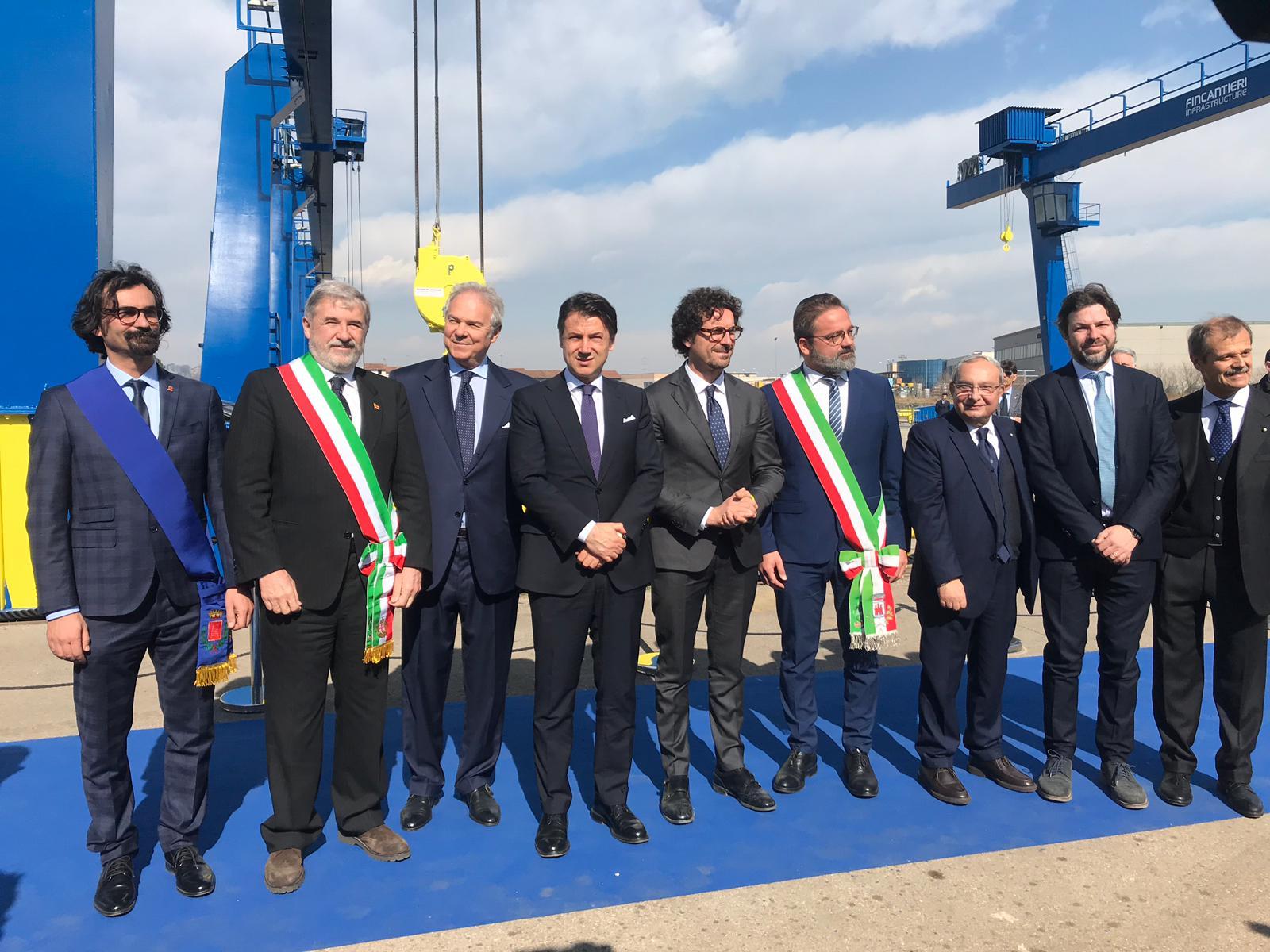 Valeggio Conte Toninelli ponte Genova Fincantieri