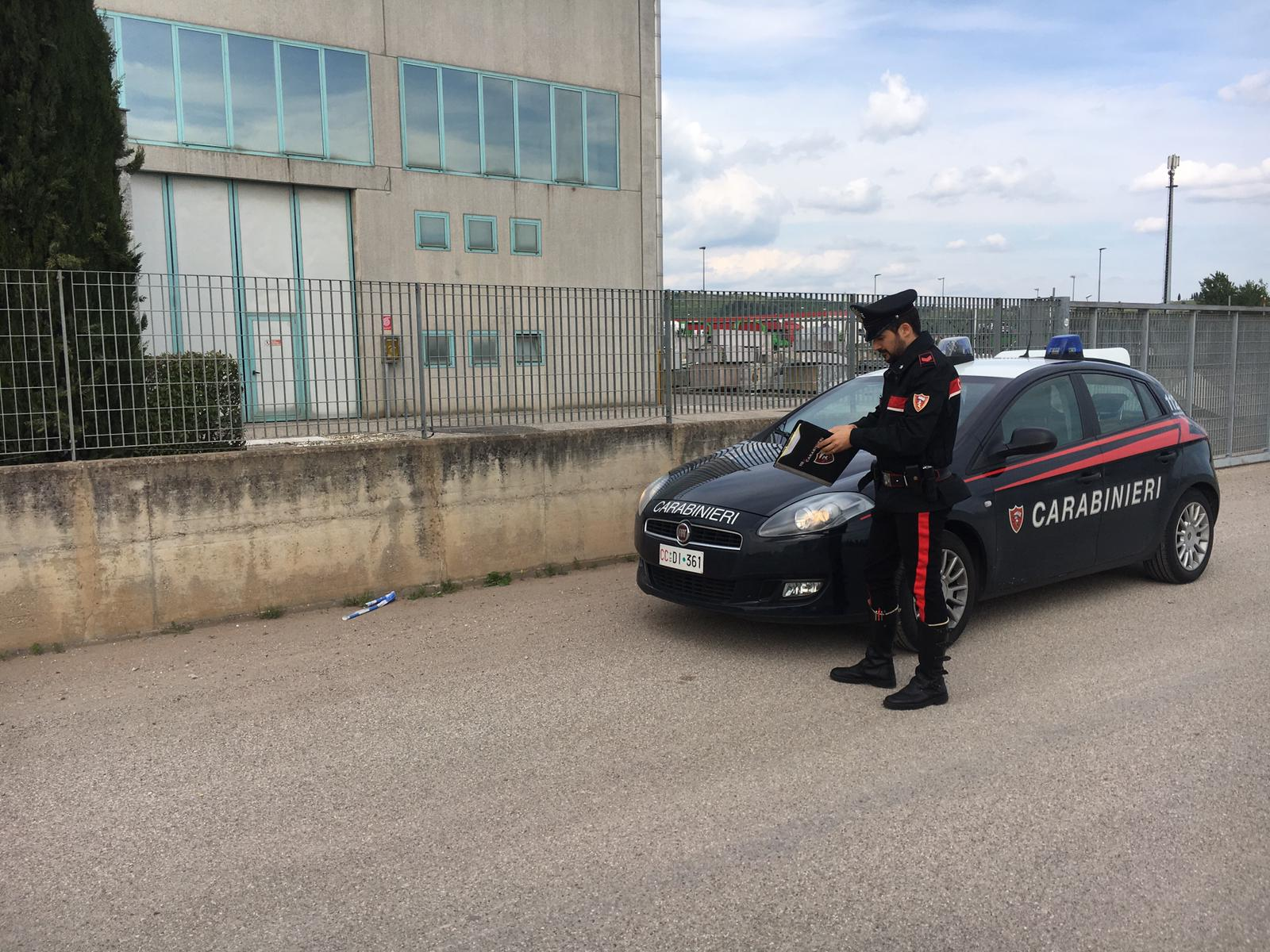 Carabinieri soave incidente lavoro