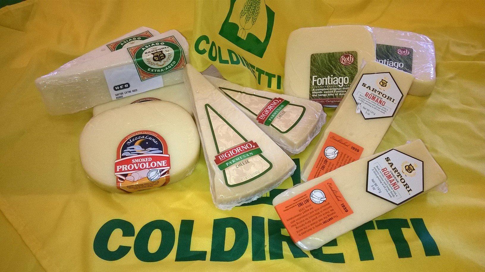 Formaggio usa coldiretti dazi falso made in italy