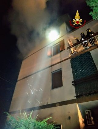 Incendio a San Martino