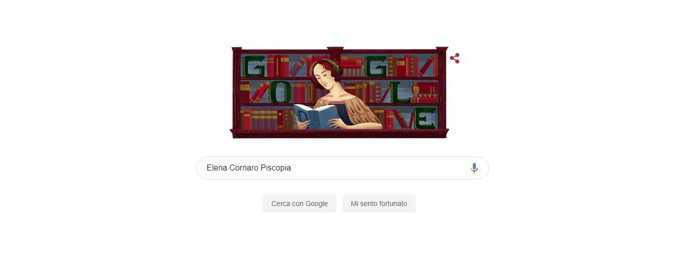 doodle Google-Elena Cornaro Piscopia