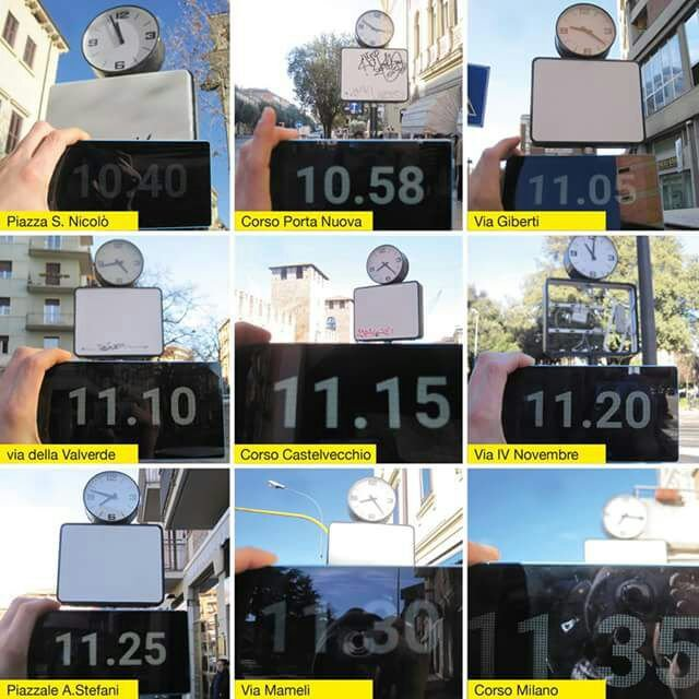 piuttosto bella più recente comprare on line Riordino spazi pubblicitari, rimossi 36 orologi fermi ...