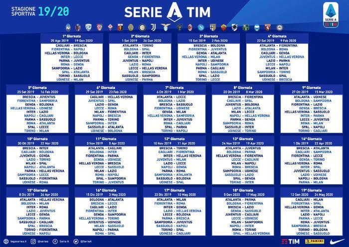 Calendario Verona.Serie A 2019 2020 Svelato Il Calendario Daily Verona Network