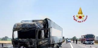 incendio camion A22