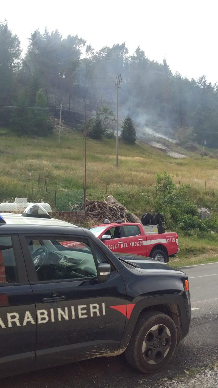 incendio sterpaglie bosco chiesanuova