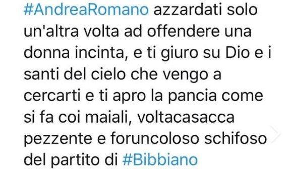 minaccia di morte Andrea Romano