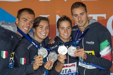staffetta mondiali nuoto italia