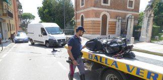 incidente san martino motociclista grave