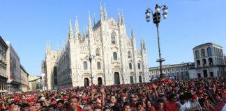 Ferrari festa Milano 90 anni