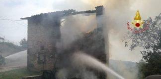 incendio in un fienile Azzago Grezzana