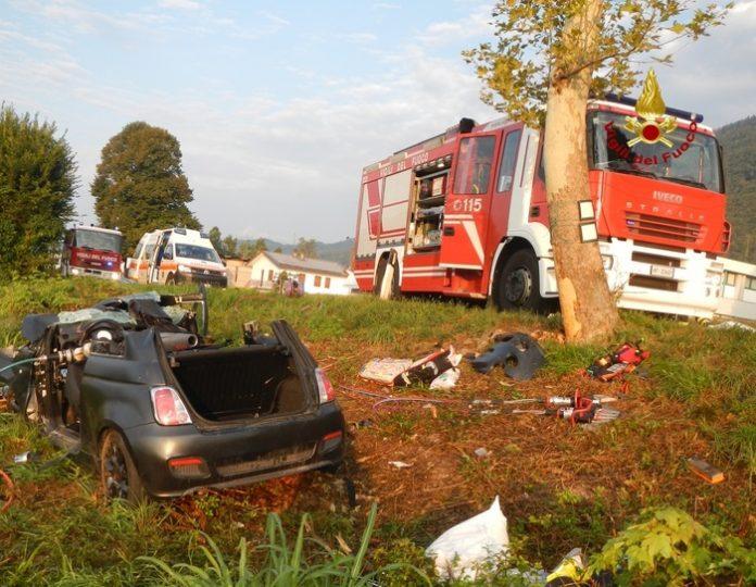 incidente stradale mortale belluno