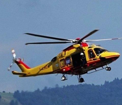 Elicottero soccorso alpino motocross san rocco