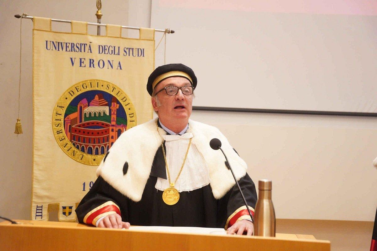 Laurea honoris causa Univr a Nobel per la medicina James Patrick Allison (1) - Rettore Nocini