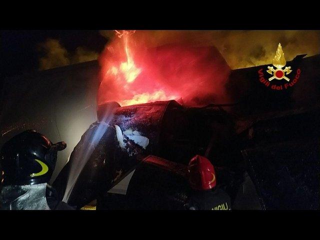 incendio tir cantagallo