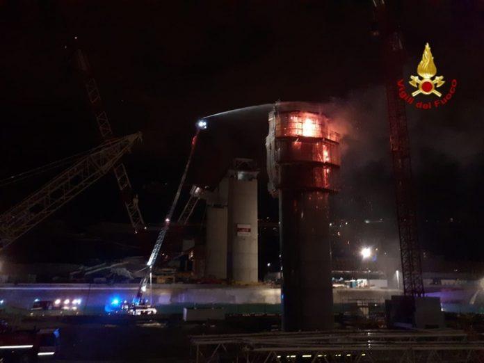Incendio pila 13 ponte genova