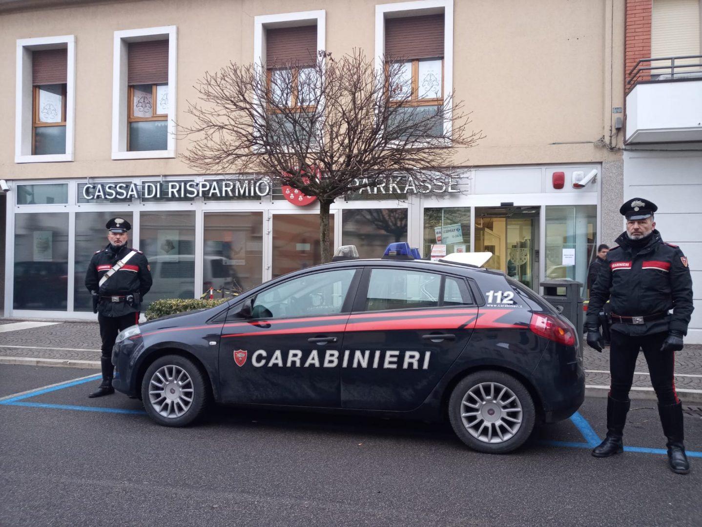 Carabinieri Legnago bancomat sparkasse (2)