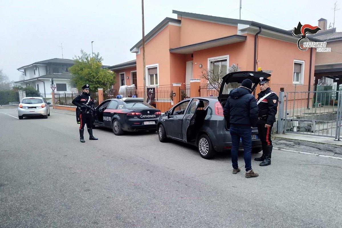 Carabinieri ladri fermati a Nogarole Rocca