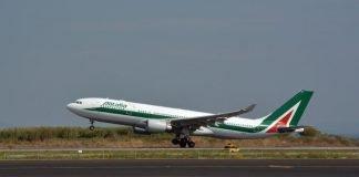 Un aereo di Alitalia