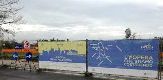 cantieri del filobus in borgo roma Opera filovia