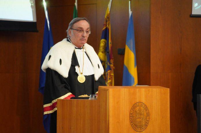 Il magnifico rettore dell'università di Verona Pier Francesco Nocini