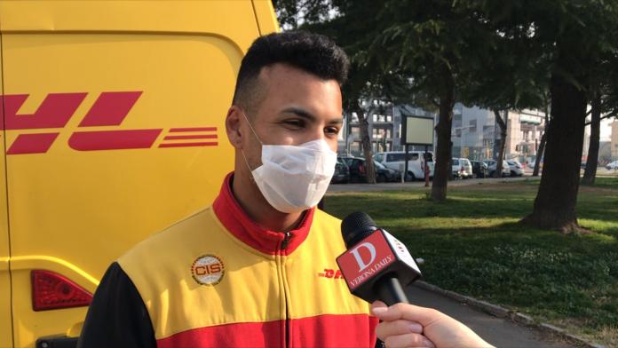Uno dei primi ragazzi che il 22 febbraio 2020 indossava la mascherina.
