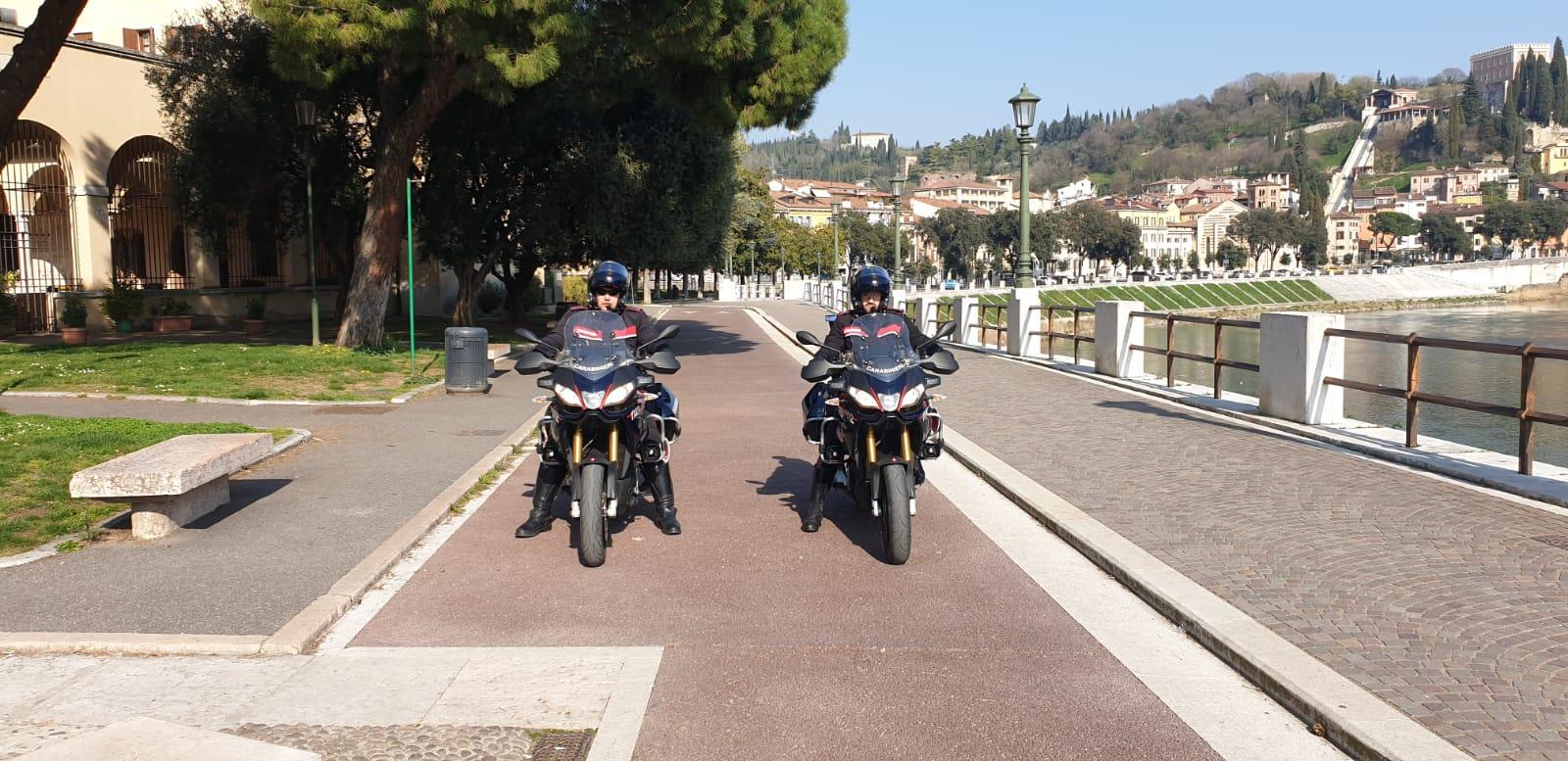 Carabinieri controlli Verona coronavirus