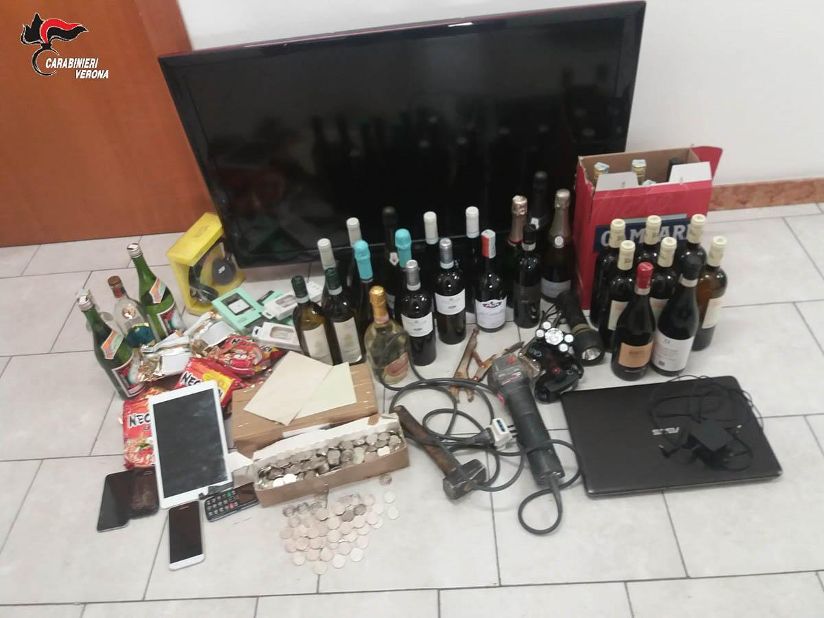 furti a san martino buon albergo in hotel e negozio - carabinieri (2)