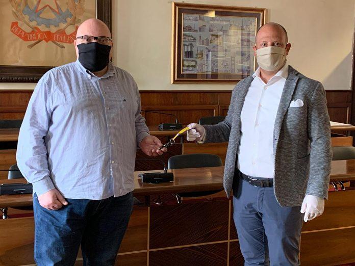 Maurizio Simonato, consigliere comunale di San Giovanni Lupatoto, e Damiano Buffo, presidente di Ater Verona