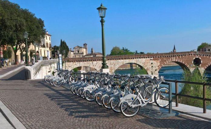 Verona bike sharing biciclette
