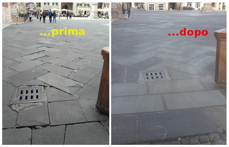 piazza dei signori nuova pavimentazione