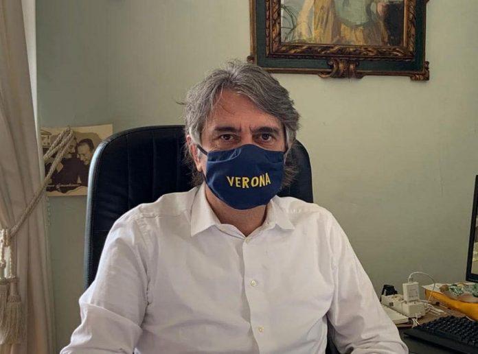 Federico Sboarina mascherina