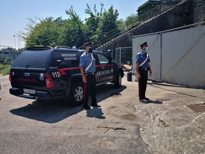 Carabinieri cadavere nel Camuzzoni