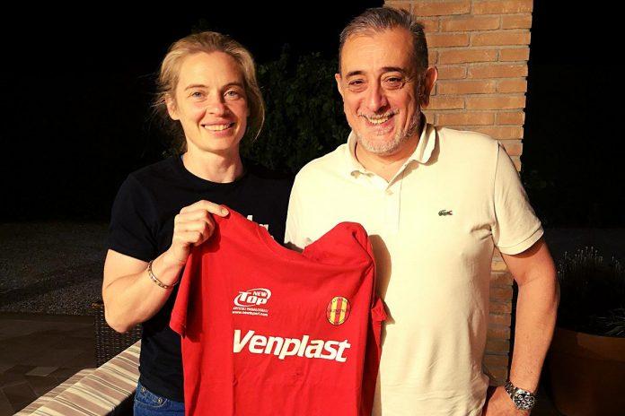 Elena Barani allenatrice e Marco Beghini presidente Venplast Olimpica Dossobuono