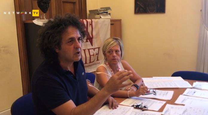 Il segretario provinciale di Anief Patrizio Del Prete e quello regionale Rita Fusinato