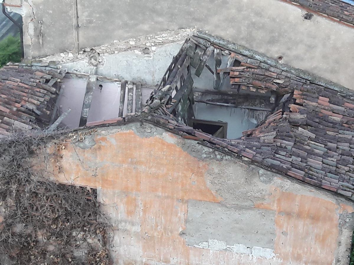 casa colonica saval crollo tetto