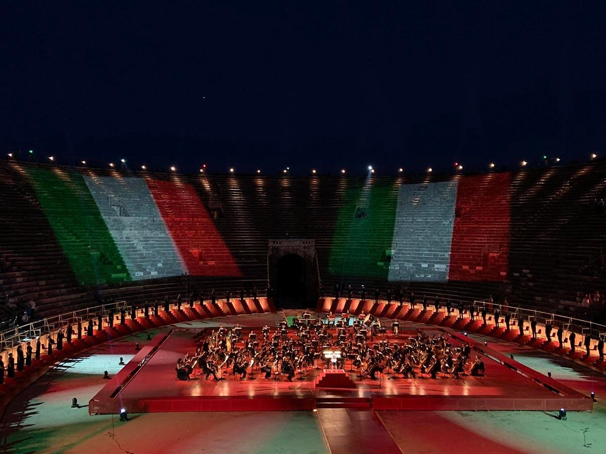 Arena di Verona prima 2020 - Il cuore italiano della musica
