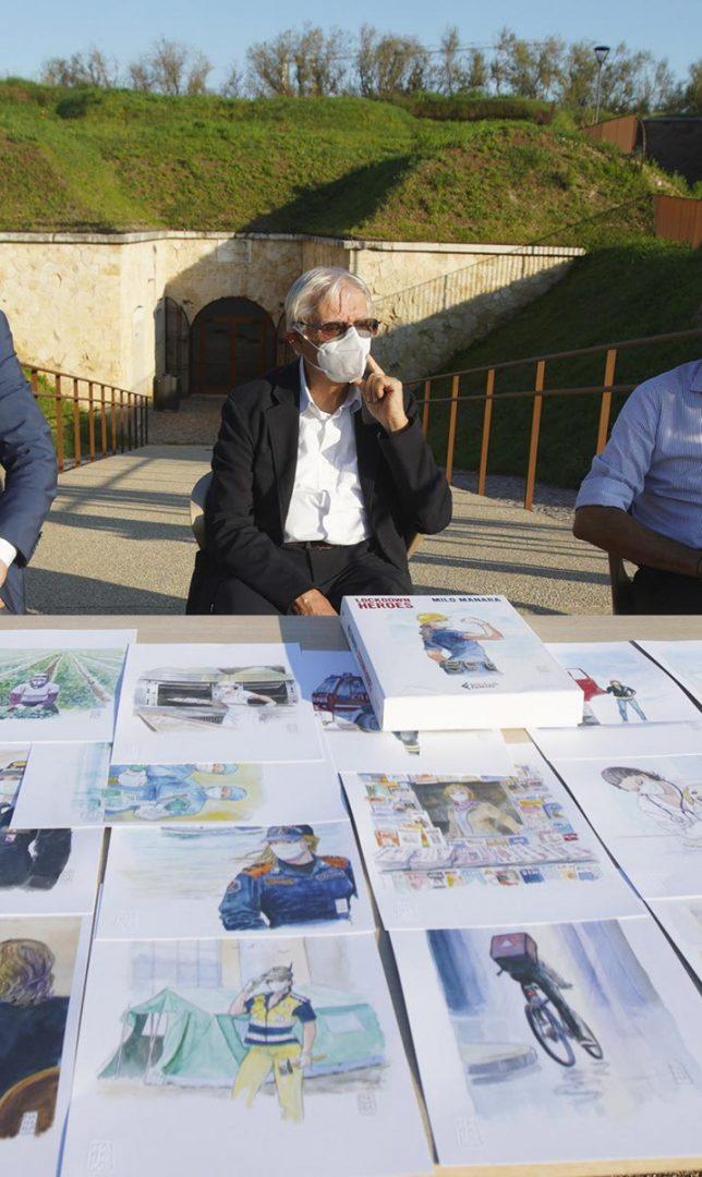 Milo Manara - disegno opere lockdown - Bastione delle Maddalene