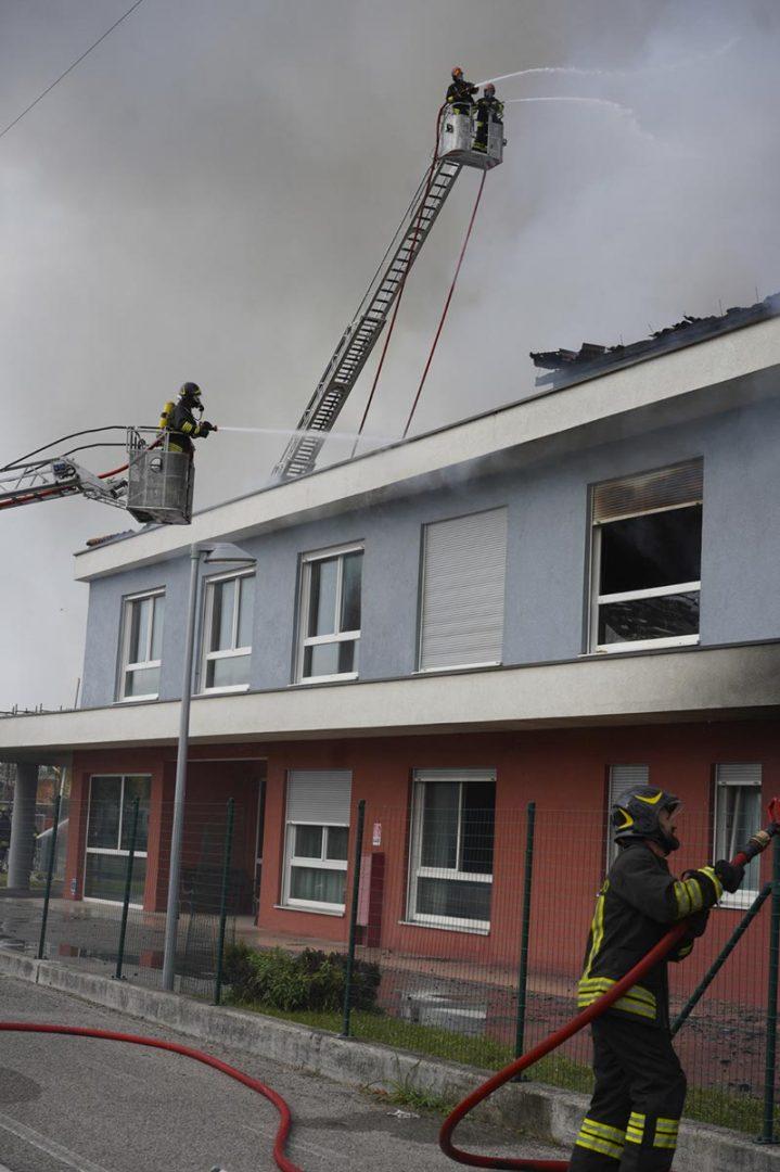 Vigili del Fuoco - Incendio Albaredo d'Adige - casa di riposo