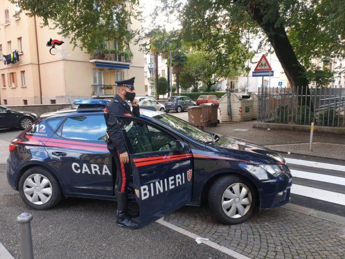 Carabinieri bimbo abbandonato