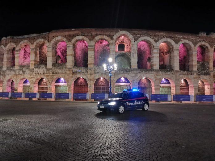 arresto carabinieri arena piazza bra
