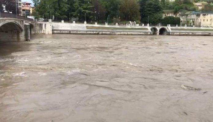 piena Adige a Verona, domenica 4 ottobre 2020