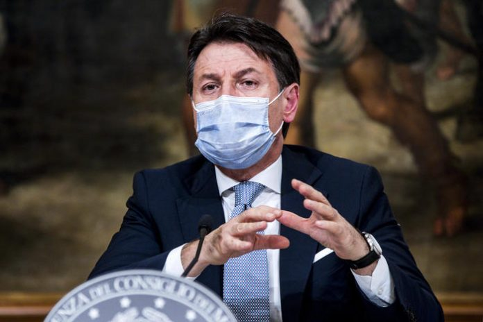 Giuseppe Conte veneto fascia gialla