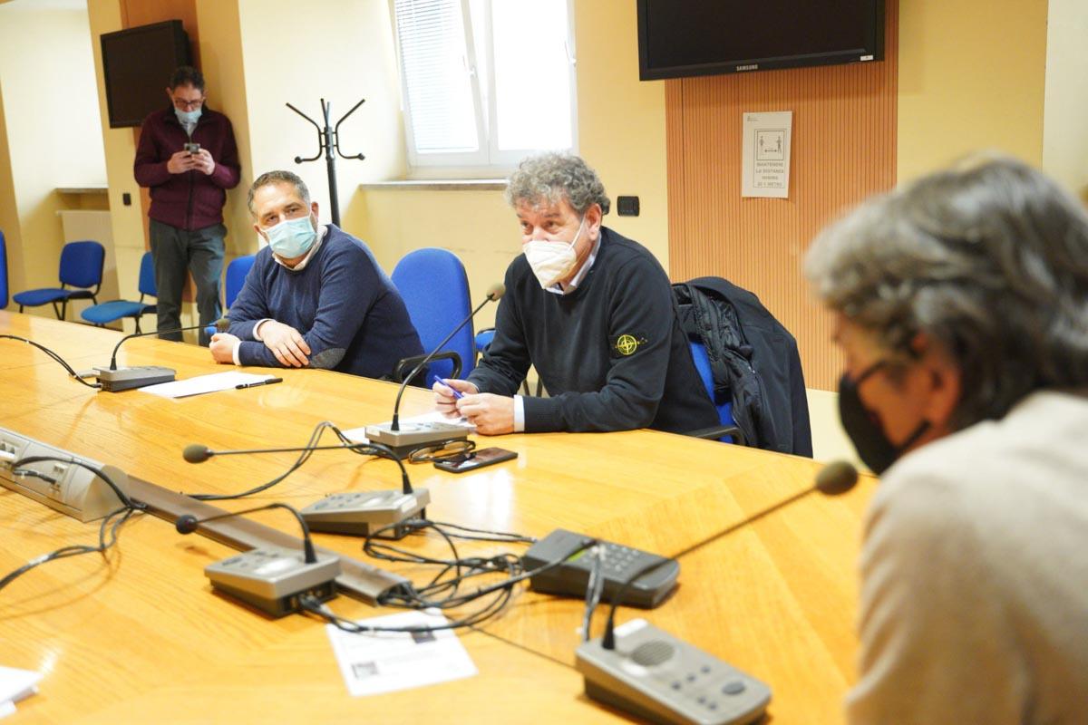Presentazione assessori Comune di Verona Andrea Bassi, Stefano Bianchini, sindaco Federico Sboarina