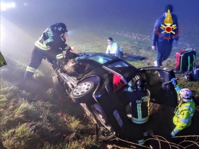 incidente a veronella vigili del fuoco pompieri
