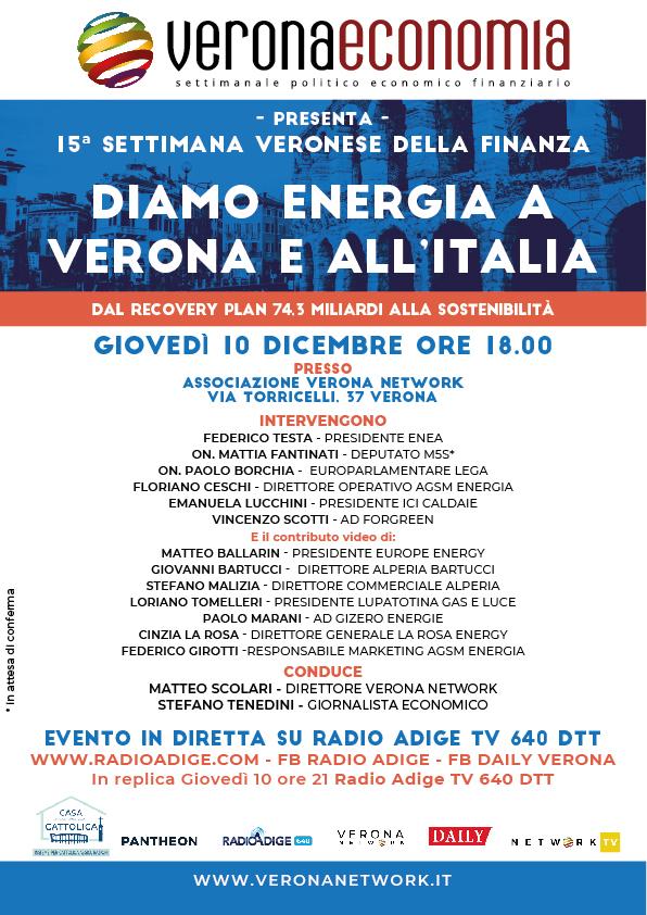settimana finanza 10 dicembre energia